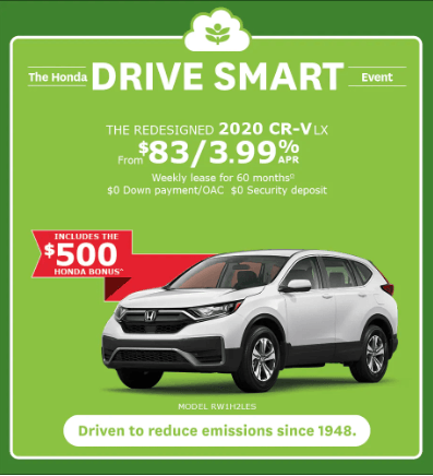 THE REDESIGNED 2020 CR-V LX DRIVE SMART EVENT
